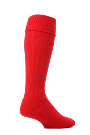 Mens 1 Pair J. Alex Swift Knee Length Wool Rib Walking Socks Red