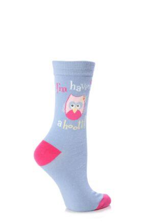 Ladies 1 Pair SockShop Dare To Wear I'm Having A Hoot Socks