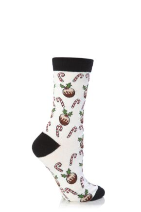 Ladies 1 Pair SockShop Dare To Wear Christmas Socks - Christmas Time 4-8 Ladies