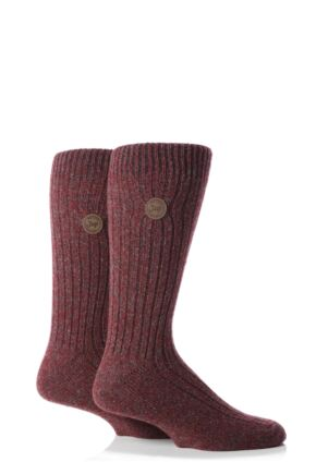 Mens 2 Pair Jeep Spirit Rib Socks