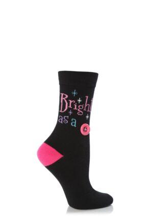 Ladies 1 Pair SockShop Dare To Wear Bright As A Button Socks
