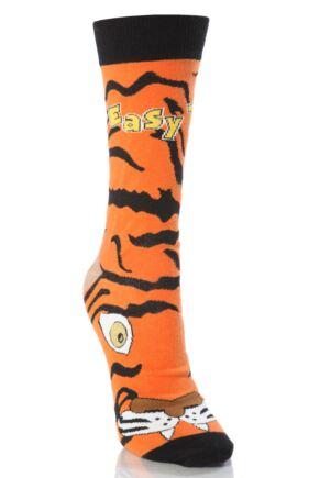 Mens 1 Pair SockShop Dare To Wear Easy Tiger Socks