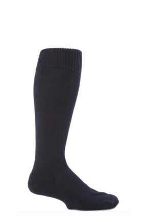 Mens and Ladies 1 Pair SockShop of London Cotton Riding Socks With Cushion Sole Rich Navy 12-14
