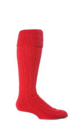 Mens 1 Pair Scott Nichol Shetland Wool Rib Shooting Socks Tudor L