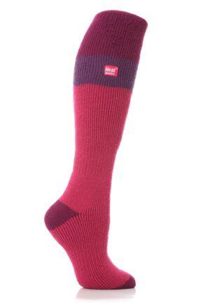 Ladies 1 Pair SockShop Ski Heat Holders Thermal Socks Fuchsia