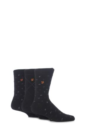 Mens 3 Pair Farah Golf Socks