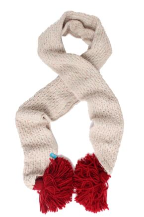 Ladies Urban Knit Chunky Tassle Scarf 75% OFF