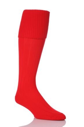 Mens 1 Pair Peter Shilton Pro Action Football Socks Red