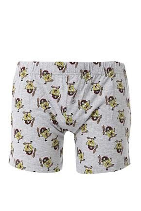 Mens 1 Pair TM Spongebob Boxer Shorts Grey L
