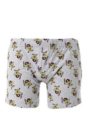 Mens 1 Pair TM Spongebob Boxer Shorts Grey XL