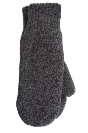 Mens 1 Pair Heat Holders 2.5 Tog Heatweaver Yarn Mittens In Charcoal