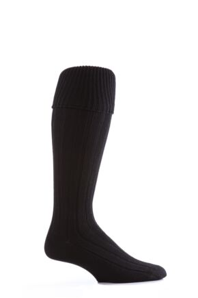 Mens 1 Pair Glenmuir Birkdale Golf Wool Knee High Socks with Turn Over Cuff