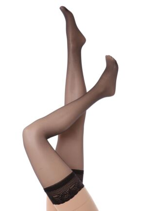 Ladies 1 Pair Aristoc 10 Denier Ultra Shine Hold Ups with Silk Finish