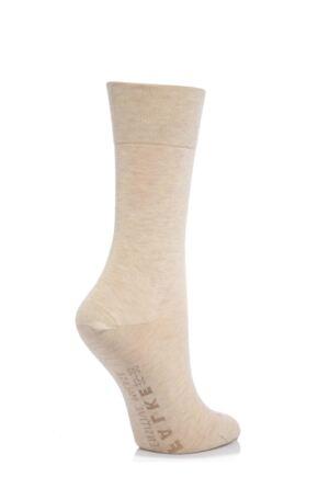 Ladies 1 Pair Falke Sensitive Malaga Left And Right Mercerised Cotton Socks