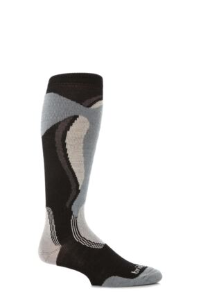 Mens 1 Pair Bridgedale Midweight Control Fit Winter Sports Socks