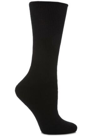 Ladies 1 Pair HJ Hall Diabetic Socks In 2 Colours