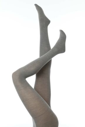 Ladies 1 Pair Falke Soft Merino Wool Tights Shetland L