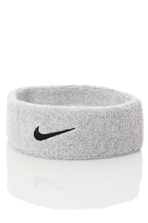 Mens and Ladies 1 Pack Nike Swoosh Headband Grey Heather