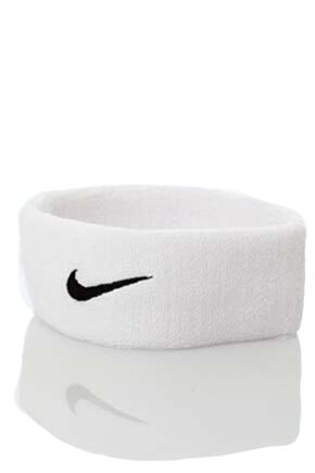 Mens and Ladies 1 Pack Nike Swoosh Headband White