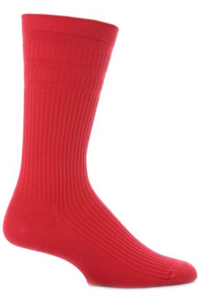 Mens 1 Pair HJ Hall Original Cotton Softop Socks In 6 Colours