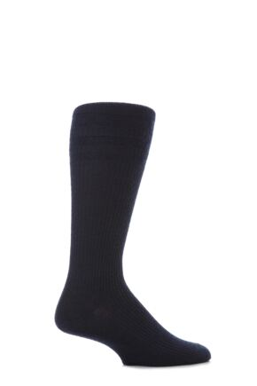 Mens 1 Pair HJ Hall Mid Calf Wool Softop Socks