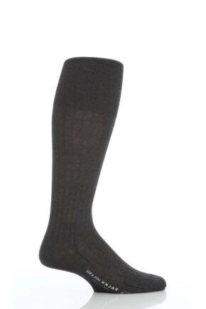 Mens 1 Pair Falke Milano 97% Cotton Knee High Socks