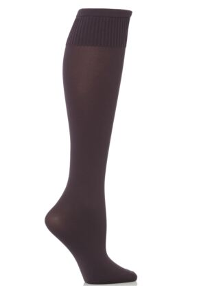 Ladies 1 Pair Trasparenze Cinzia Microfibre Knee Highs Purple