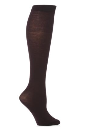 Ladies 1 Pair Trasparenze Jennifer Merino Wool Knee High Socks Purple