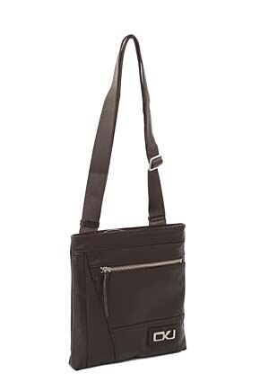 Mens Calvin Klein Jeans Flat Leather Crossover Bag - Sale Brown