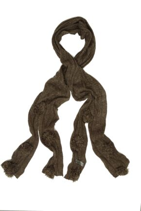 Ladies Bewitched Pompom Scarf 75% OFF