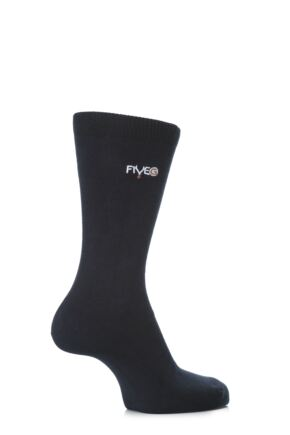Mens 2 Pair FiveG Plain Trouser Socks made with Fairtrade Cotton