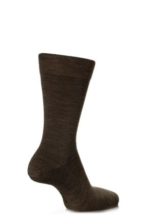 Mens 1 Pair Falke Sensitive Berlin Virgin Wool Left and Right Socks With Comfort Cuff
