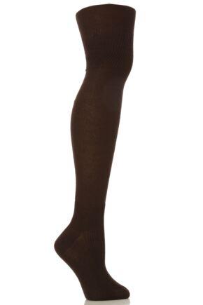 Ladies 1 Pair Oroblu Annika Cotton Over The Knee Socks 25% OFF