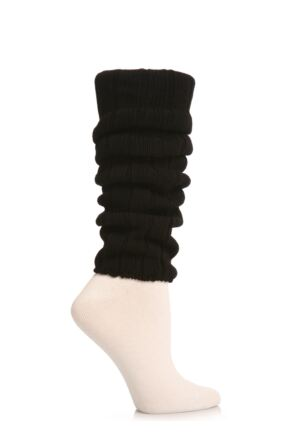 Ladies 1 Pair Falke Liz Cotton Rib Legwarmers