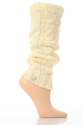 Ladies 1 Pair Elle Soft Cable Knit Legwarmer In 4 Colours