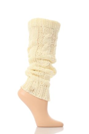 Ladies 1 Pair Elle Soft Cable Knit Legwarmer