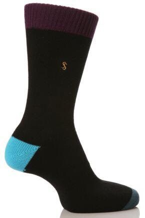 Mens 1 Pair SockShop Contrast Colour Burst Socks In 5 Colours