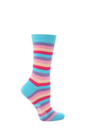 Ladies 1 Pair Corgi Striped Fine Cotton Socks