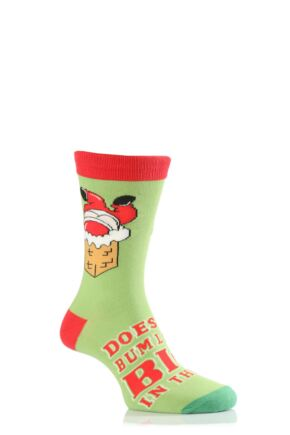 Mens 1 Pair SOCKSHOP Christmas Dare to Wear Does My Bum Look Big In This? Novelty Socks