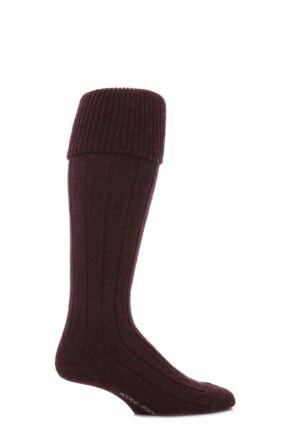 Mens 1 Pair Scott Nichol Shetland Wool Rib Shooting Socks Rembrandt M