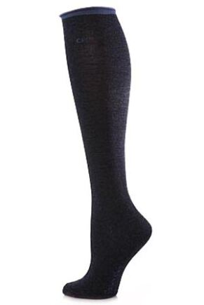 Ladies 1 Pair Calvin Klein Tipped Logo Roll Top Knee High Socks