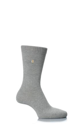 Mens 1 Pair SockShop Colour Burst Cotton Socks with Smooth Toe Seams