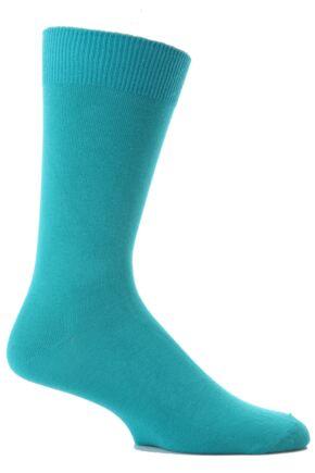 Mens 1 Pair SockShop Colours Single Cotton Rich Socks In 8 Colours