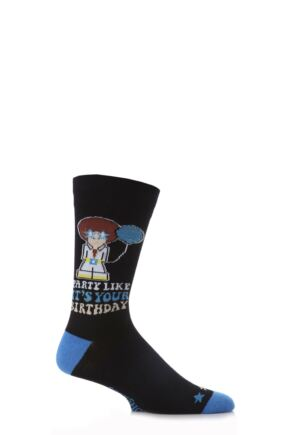 Mens 1 Pair SockShop Dare to Wear Party Like It's Your Birthday Socks - Worth £2.99