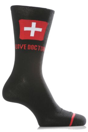 Mens 1 Pair SockShop Dare to Wear - Love Doctor