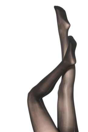 Ladies 1 Pair Silky Party Tights - Flamenco Printed Back Seam
