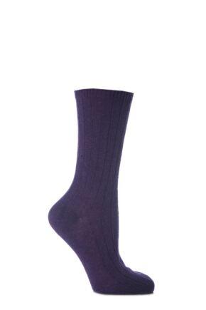 Ladies 1 Pair SockShop of London 100% Cashmere Bed Socks Ametista