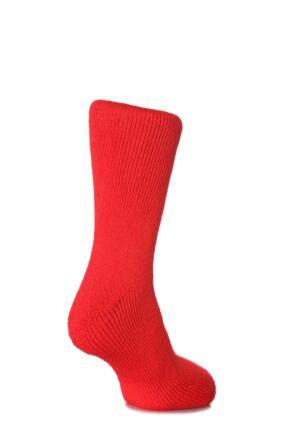 Ladies 1 Pair SockShop Original Heat Holders Thermal Socks Red