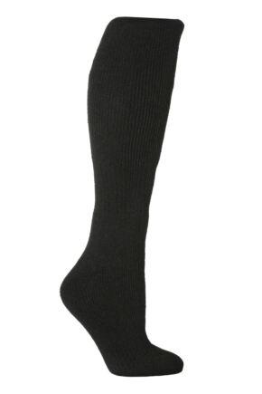 Ladies 1 Pair SockShop Long Heat Holders Thermal Socks Black