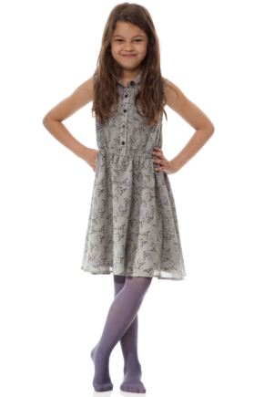 Girls 1 Pair Elle 40 Denier Opaque Tights Grey 12-14